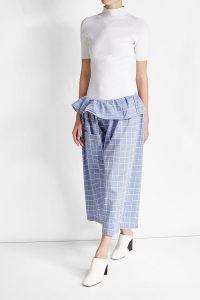<b>Karierte Paperbag Pants</b> aus Baumwolle von William Fan, <br>ca. 350 Euro, über Stylebop.com