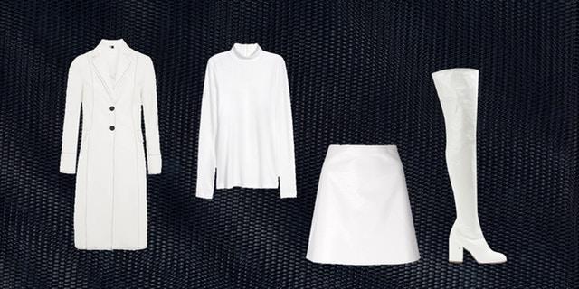 weiße overknees mit schwarzen streifen
