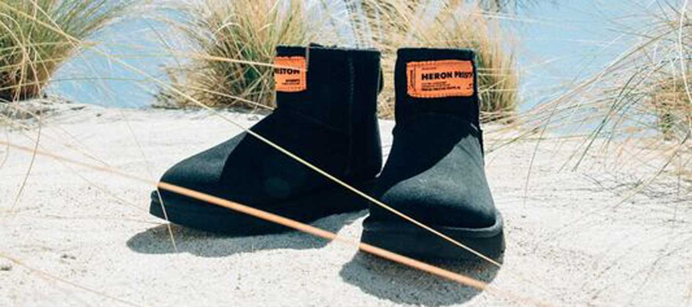 ugg heron preston collab boots schuhe kollektion beach boots