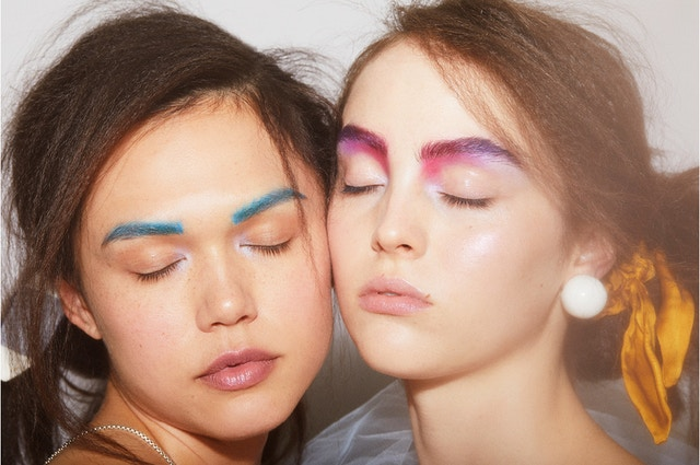 Beauty augen make up neon looks schminken