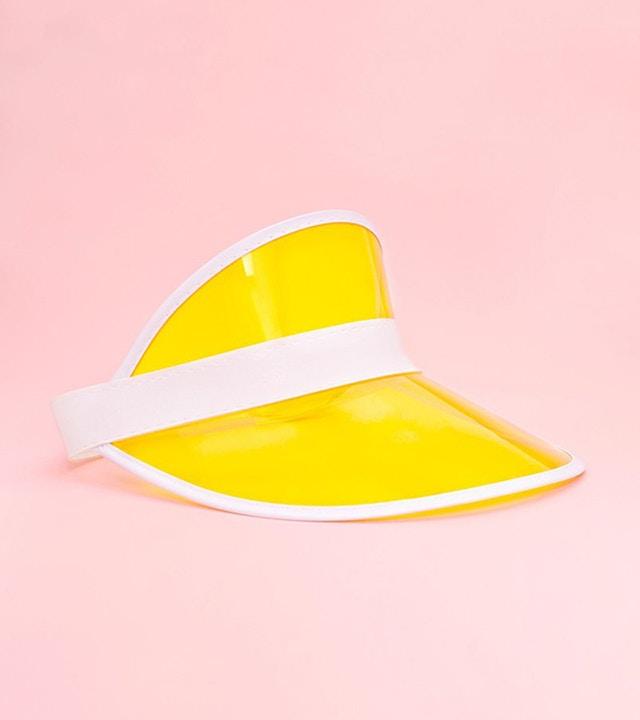 Schirmhut in Gelb