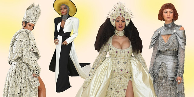 met gala 2018 metropolitan fashion red carpet looks roter teppich rihanna religion kleider looks