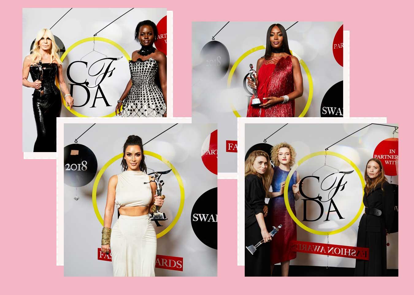 kim kardashian naomi campbell award fashion cfda new york