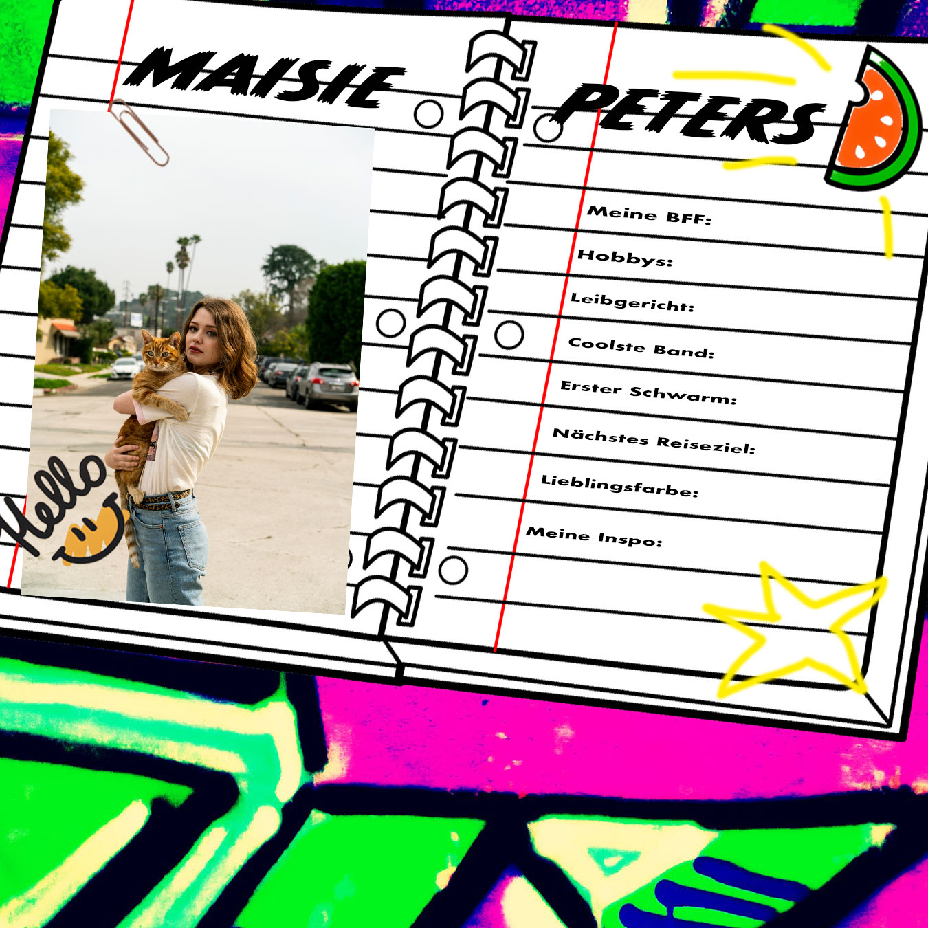 Maisie Peters schreibt ins NYLON-Freundebuch