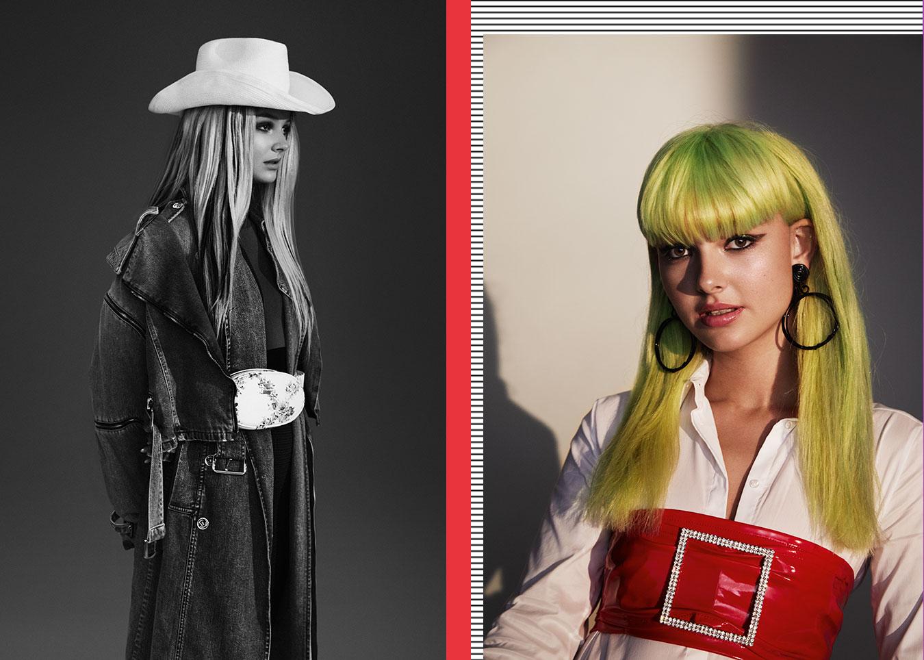 Cäcilia als 2000er-Cowgirl und Punk-Britney