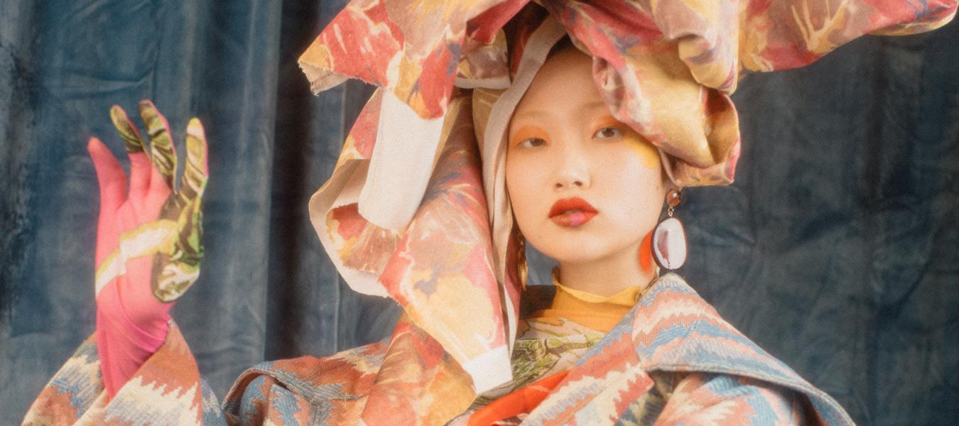 drapieren high fashion styling color pop