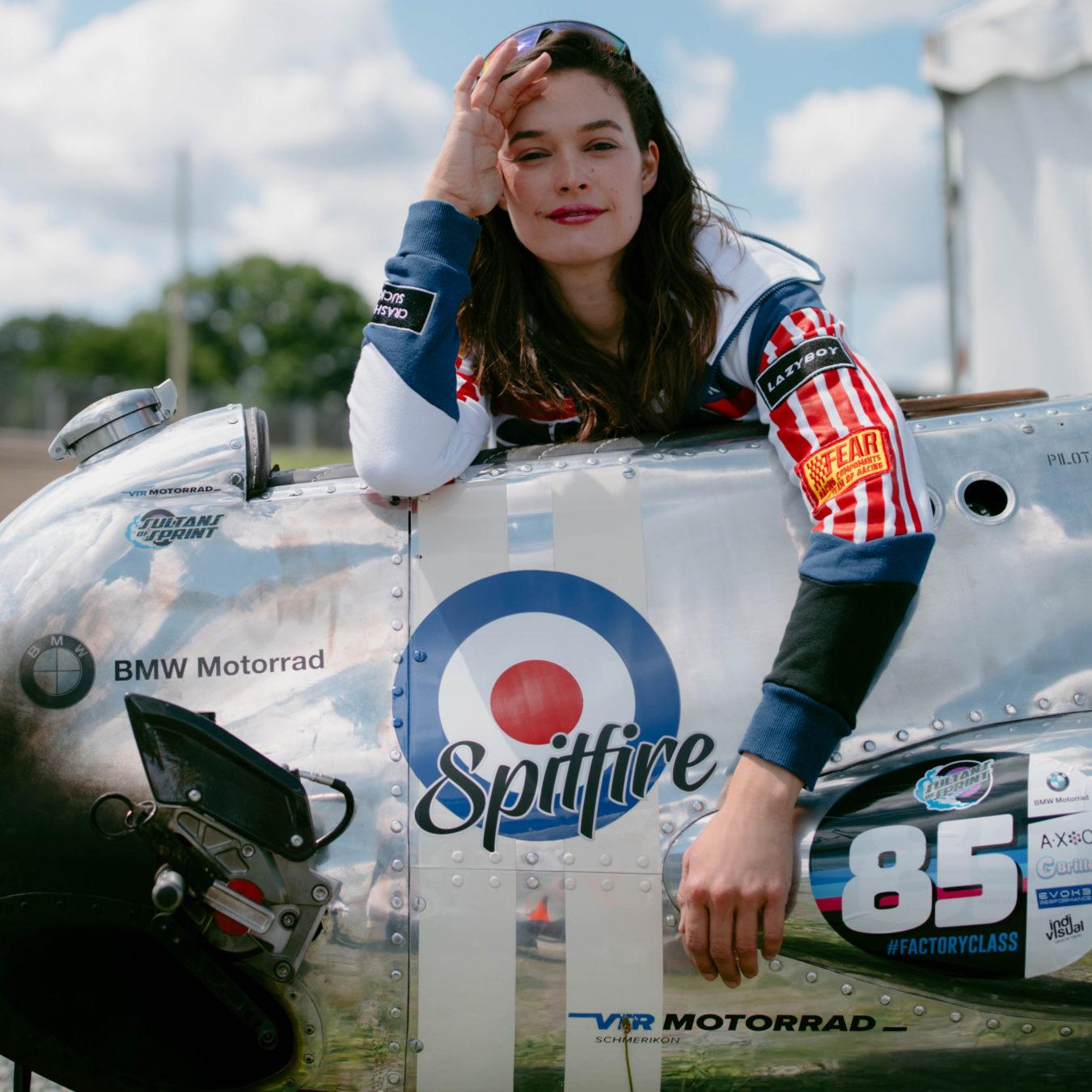 Amelie Mooseder und ihre Spitfire