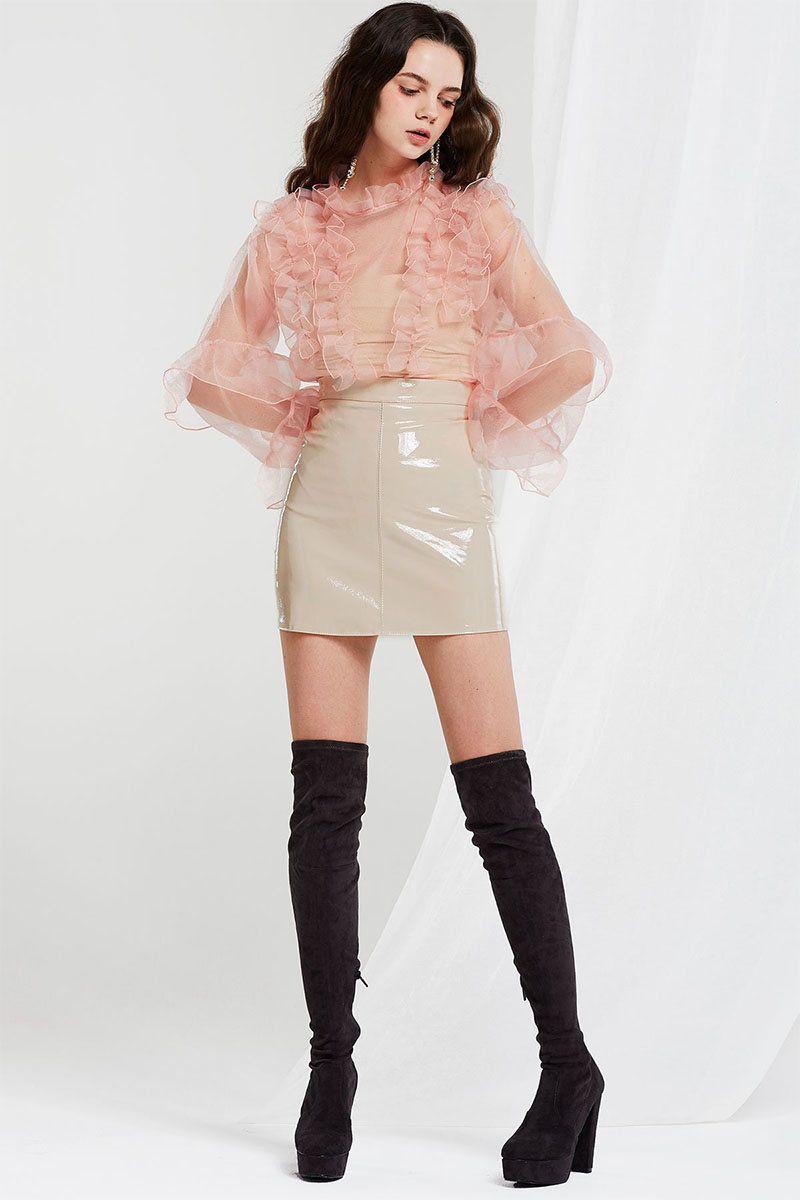Lack Rock Transparente Bluse